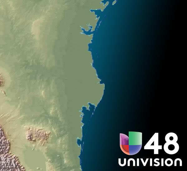 La �ltima imagen del radar del Brownsville, TX y de advertencias actuales del tiempo